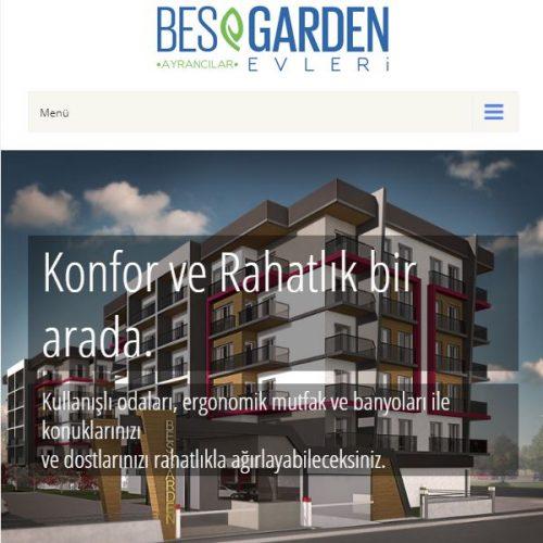 Bes Garden Evleri Websitesi yayında.